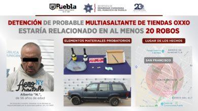 detenidos, robo a negocio, tiendas Oxxo, puestos a disposición, SSC, Código Rojo, Nota Roja, Puebla, Noticias