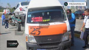 choque, transporte público, transporte privado, Ruta 25 Nueva Visión, Protección Civil Municipal, Código Rojo, Nota Roja, Puebla, Noticias