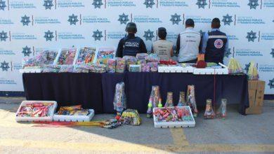 Operativo, Unidad Operativa Municipal de Protección Civil, SSC, SEGOM, Mercado Emiliano Zapata, de pirotecnia, familias poblanas