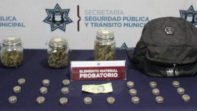 colonia Miguel Hidalgo, detenido, sujeto, droga, marihuana, Ministerio Público, puesto a disposición, narcomenudista, presunto, SSC, Código Rojo, Nota Roja, Noticias, Puebla