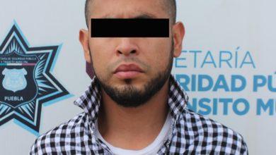 detenido, CAPU, SSC, perro, K9, arma de fuego, pistola, cartuchos útiles, Código Rojo, Nota Roja, Puebla, noticias