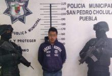 detenidos, robo, arma de fuego, San Pedro Cholula, vehículo robado, Acuexcomac, San Francisco Cuapan