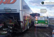 choque, Autopista Puebla-Orizaba, Amozoc, autobús, pasajeros, tractocamión, peritaje, Cruz Roja, Capufe, cuatro, lesionados, Código Rojo, Nota Roja, Puebla, Noticias