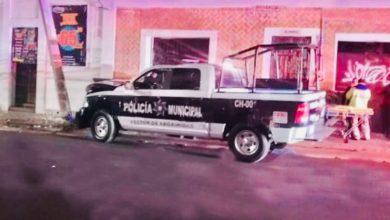 Poste, concreto, CFE, patrulla, SSC, choque, elementos, lesionados, patrulla, Protección Civil Municipal, CFE, Hospital de Traumatología y Ortopedia del IMSS, Código Rojo, Nota Roja, Puebla, Noticias, barrio de El Carmen