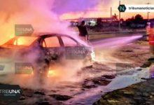 incendio, vehículo, Ayuntamiento de la ciudad de Puebla, quemado, llamas, bomberos, Protección Civil Municipal, San Pedro Cholula, Código Rojo, Nota Roja, Puebla, Noticias
