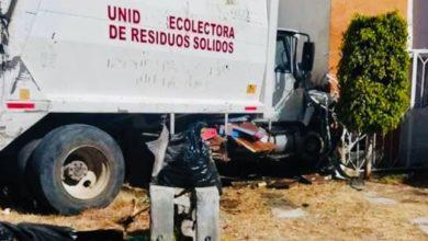 Huejotzingo, camión recolector, basura, avería mecánica, conductor, Hospital General de Huejotzingo, Protección Civil Municipal, paramédicos