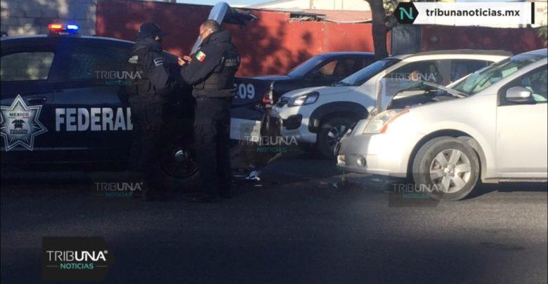 choque, patrulla, San Pablo Xochimehuacán, Policía Federal, Guardia Nacional, elementos, no lesionados, Código Rojo, Nota Roja, Puebla, Noticias