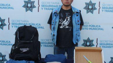 detenido, SSC, Barrio de Santiago, robo a transeúnte, daño en propiedad ajena, antecedentes penales, Código Rojo, Nota Roja, Puebla, Noticias