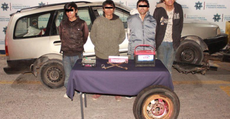 Policía Municipal, autopartes, robo, Bulevar Norte, registros penales, automóvil, Fiscalía General del Estado