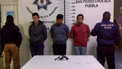 Ministerio Público, arma de fuego, San Pedro Cholula, infracción, tránsito municipal, Secretaría de Seguridad Ciudadana, conductor, gasolinera