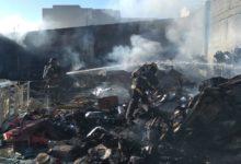 Incendio, bodega, Hospital del Niño Poblano, San Andrés Cholula, 911, SSP, papelería, mobiliario, bodega