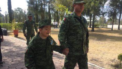 XXV Zona Militar, sueño, Soldado, Sedena, instituto armado, niños poblanos, nación, glaucoma hipertrofia ocular
