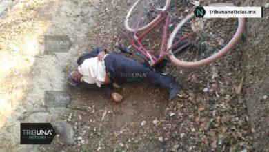Cadáver, ciclista, San Miguel Xoxtla, muerte, tercera edad, Secretaría de Seguridad Pública, bicicleta, occiso