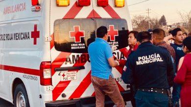 Motociclista, Parque Industrial de Huejotzingo, Cruz Roja, Policía Municipal, conductor, baleado