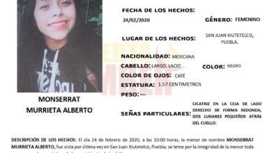 desaparecida, Alerta Ámber, Ciudad de México, menor de edad, mujer, FGE, Código Rojo, Nota Roja, Puebla, Noticias
