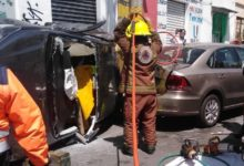 patrulla, SSC, luz roja, semáforo, lesionados, hombres, tercera edad, mujer, policía, SSC, Código Rojo, Nota Roja, Puebla, noticias