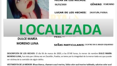 Alerta Ámber, desactivada, Dulce María, hallada, ilesa, Chingahuapan, Código Rojo, Nota Roja, Puebla, Noticias