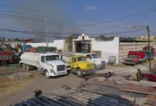 Incendio, corralón, San Francisco Totimehuacan, vehículos calcinados, humo, Bomberos, Protección Civil, Policía Estatal, Policía Municipal, Ejército Mexicano