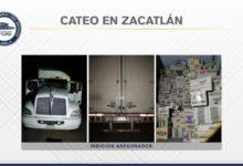 trailer, robo, abarrotes, carga, Zacatlán, cateo, FGE, Código Rojo, Nota Roja, Puebla, Noticias