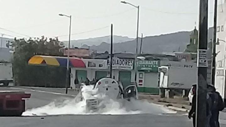 fuga de gas, Amozoc, camioneta Ranger, pipa, gas LP, Policía Municipal, Vialidad del Estado y Protección civil, TRÀILER