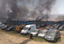 San Francisco Totimehuacán, Fuego, corralón, Policía estatal, bomberos, lesionados, vehículos