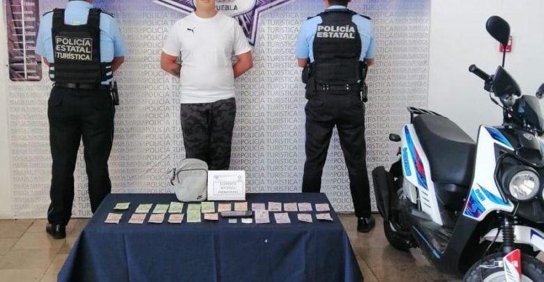 narcomenudista, detenido, calles, Centro Histórico, Puebla, Noticias, Código Rojo, Nota Roja
