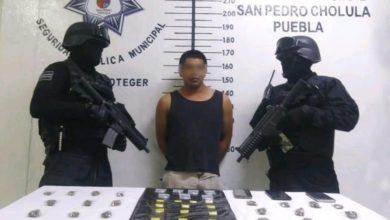 operativo, San Pedro Cholula, detenido, cristal, marihuana, Código Rojo, Nota Roja, Puebla, Noticias