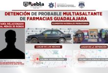 SSC, multiasaltante, Farmacias Guadalajara, DERI, dinero en efectivo, un teléfono celular, cajetillas con cigarros, medicamento, productos de higiene personal , arma tipo escuadra, Ministerio Público