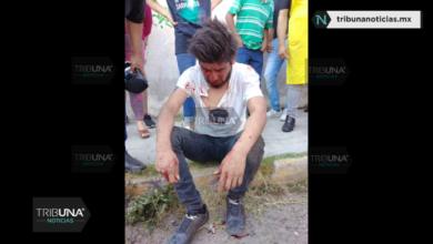 Locatarios, Mercado Ignacio Zaragoza, ladrón, Policía Estatal, SSP, heridas, rostro