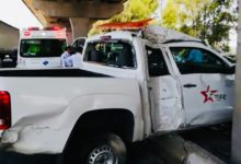 Choque, autopista, urgencias médicas del SUMA, Estrella Roja, Vialidad Estatal, peritajes,