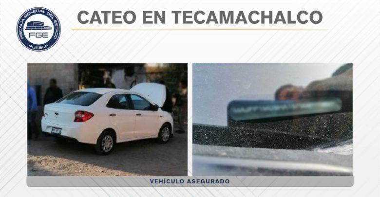 Tecamachalco, recuperación, vehículo, reporte de robo, amagar, armas de fuego, cateo, FGE, Código Rojo, Nota Roja, Puebla, Noticias