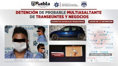 Multiasaltante, Puebla Textil, SSC, Fuerzas Municipales, de arma de fuego, Los Volcanes y El Cerrito, Ministerio Público