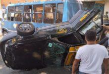 Choque, unidad habitacional La Flor, lesionados, SSC, taxista, peritajes, Tránsito Municipal, SUMA, Paramédicos