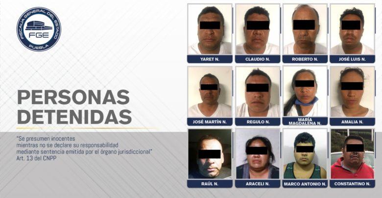 FGE, cateo, aseguramiento, detención, 12 personas, Ajalpan, Santiago Miahuatlán, Eloxochitlán, Zoquitlán, Código Rojo, Nota Roja, Puebla, Noticias