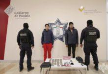 narcomenudeo, Guadalupe Hidalgo, detenidos, drogas, arma de juguete, SSP, Código Rojo, Nota Roja, Puebla, Noticias