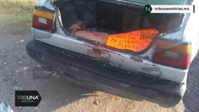baleado, huellas de violencia, cuerpo, Tecamachalco, vehículo, cartulina, mensaje de amenazas, Código Rojo, Nota Roja, Puebla, noticias