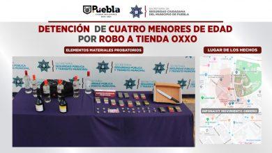 Infonavit Movimiento Obrero, cuatro, adolescentes, detenidos, robo, Oxxo, objeto punzocortante, SSC, Código Rojo, Nota Roja, Puebla, Noticias