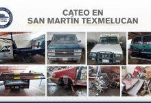 dos cateos, San Martín Texmelucan, vehículos robados, autopartes, aseguramiento, FGE, elementos, Código Rojo, Nota Roja, Puebla, Noticias