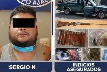 San Sebastián Zinacatepec, FGE, Sergio, detenido, droga, escopeta, disparos, Código Rojo, Nota Roja, Puebla, Noticias