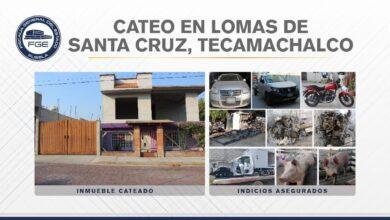 Tecamachalco, robo de vehículo, robo de autopartes, hallazgo, unidades, chasis, Tecamachalco, FGE, Código Rojo, Nota Roja, Puebla, noticias