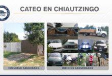 rbo, vehículo, productos de limpieza, Chiautzingo, FGE, cateo, Código Rojo, Nota Roja, Puebla, Noticias