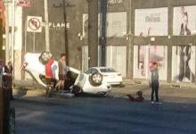 mujer, lesionada, hoque, vehículos, Prados Agua Azul, Código Rojo, Nota Roja, Puebla, Noticias