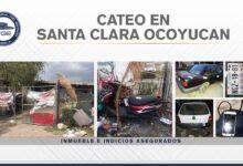 Santa Clara Ocoyucan, inmueble, cateo, vehículos asegurados, motocicleta, Código Rojo, Nota Roja, Puebla, noticias