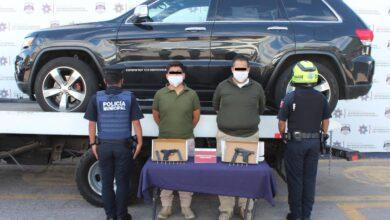 detenidos, armas de fuego, uniforme, pareja, hombres, SSC, Avenida Juárez, Código Rojo, Nota Roja, Puebla, Noticias