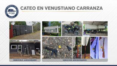 cateo, Venustiano Carranza, cateo, inmueble, aseguramiento, armas, undad de carga, robo, Código Rojo
