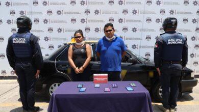robo, celulares, Sam's Club, vehículo, pareja, asegurados, antecedentes penales, Código Rojo, Nota Roja, Puebla, noticias