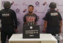narcomenudista, Tehuacán, motocicleta, robada, piedra, droga, posesión, Código Rojo