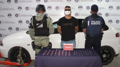dosis de droga, SSC, Guardia Nacional, operativo, detención, Lomas de Castillotla, Código Rojo, Nota Roja