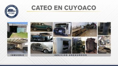 Cuyoaco, autopartes, robadas, aseguramiento, inmueble, vehículos, Código Rojo, Nota Roja