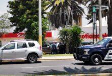 Cuantahabiente, colonia La Paz, banco Scotiabank, forcejear, cachazo, cabeza, SSC,